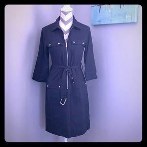 Michael Kors navy shirt dress
